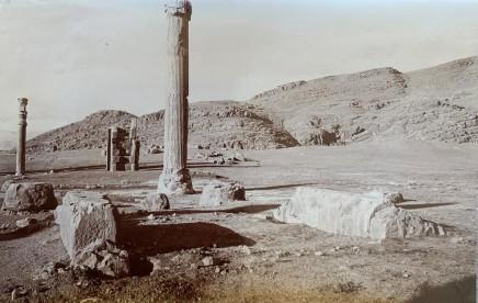 Ernst Herzfeld, Apadana, Column of North Portico and Gate of All Lands in Background, Persepolis, 1923-28