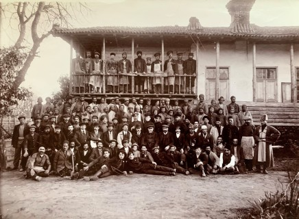 Dmitri Ivanovich Ermakov, The staff of a sawmill owned by Akaki Khoshtaria, Bandar-e Anzali, Early 20th Century