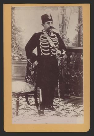 Antoin Sevruguin, Mozaffar ad-Din Shah Qajar, Late 19th Century