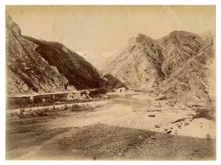 Antoin Sevruguin, Dalaki river and mountains, Late 19th Century