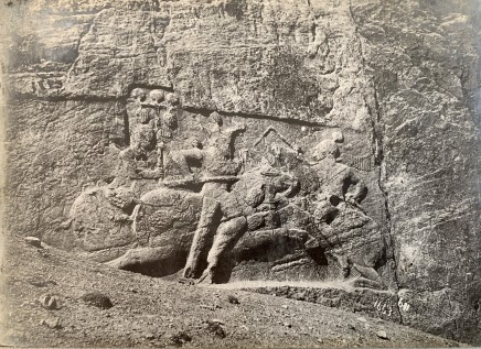 Antoin Sevruguin, Sasanian Relief Depicting the Equestrian Combat of King Bahram II, Naqsh-i Rustam, Late 19th Century or early 20th Century
