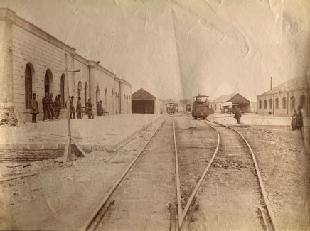 Antoin Sevruguin, The Tehran terminal on the Tehran to to the shrine of Abdul Aziz, Rey railway, Late 19th Century