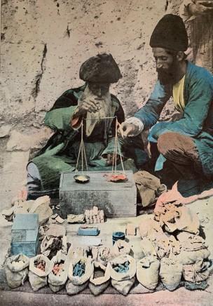 Antoin Sevruguin, Teheran, Epicer Droguiste sur la Place Royale, 1897