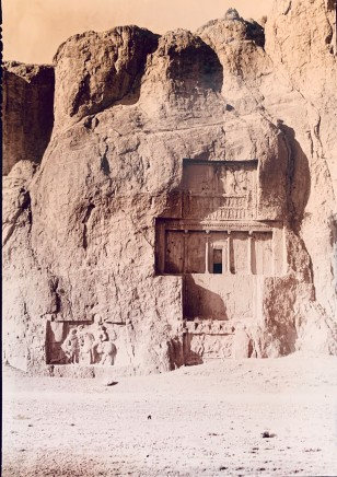 Ernst Herzfeld, Achaemenid Tomb of Darius I, Sasanian Reliefs Depicting the Triumph of Shapur I over Valerian, and Sasanian Reliefs Depicting the Equestrian Combat of King Bahram II above the Equestrian Combat of Bahram's Son, Naqsh-i Rustam, 1923-28