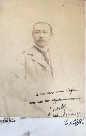 Abdallah Mirza Qajar, Comte Jacques d'Arlot de St Saud, Chargé d'Affaires de France, 1899