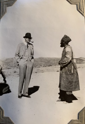John Drinkwater, Sir Victor Mallet on the Tehran to Isfahan road, 1934