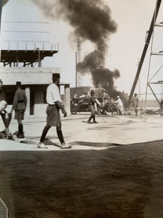 John Drinkwater, The Anglo-Persian Oil Co. fire brigade at the Abadan refinery, 1934