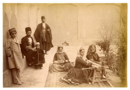 Antoin Sevruguin, An Armenian family in Julfa, Isfahan, Late 19th Century