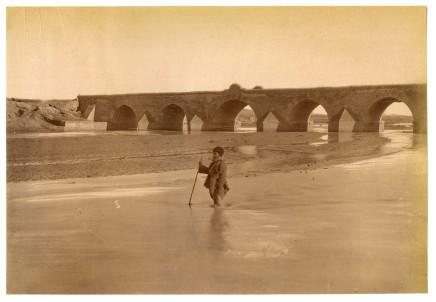Antoin Sevruguin, The route to Koum, the Daleki bridge, Late 19th Century