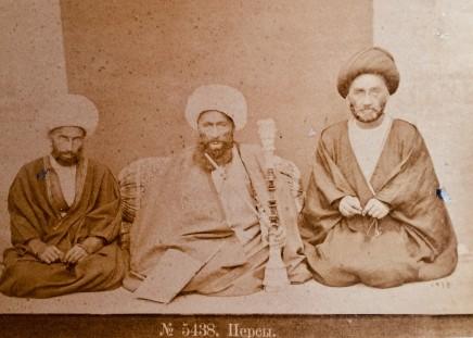 Dmitri Ivanovich Ermakov, Three Shia scholars with Hajj Mulla Ali Kani in the centre, Late 19th Century