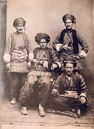 Antoin Sevruguin, A group of four Kurds in tribal costume, Late 19th Century or early 20th Century