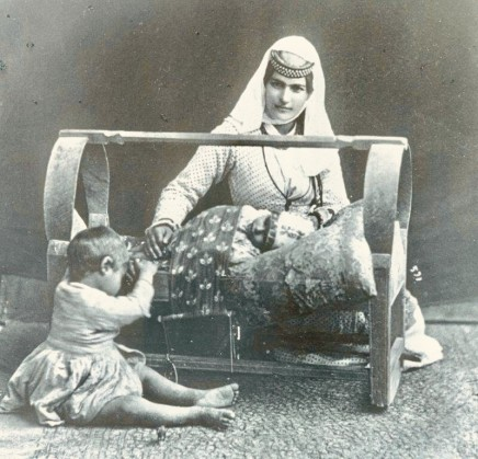 Antoin Sevruguin, An Armenian cradle, Late 19th Century