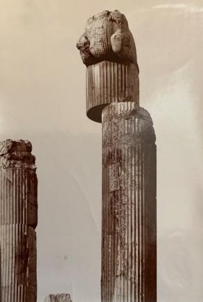 Ernst Herzfeld, Apadana, East Portico, Two Columns with Capitals, Persepolis, 1923-28