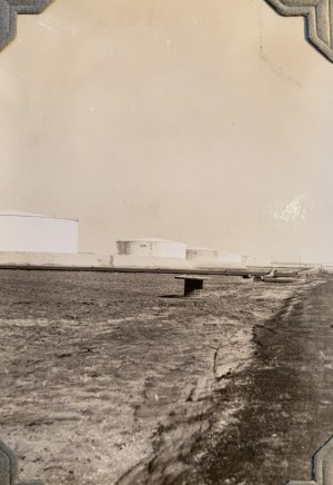 John Drinkwater, Anglo-Persian Oil Co. oil storage tanks at the Abadan refinery, 1934