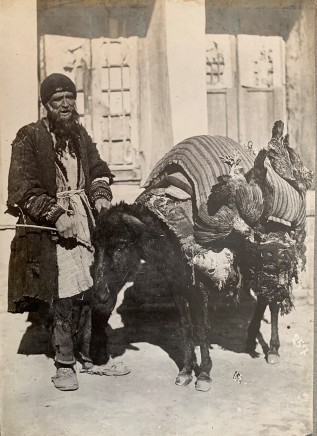 Antoin Sevruguin, Man with Donkey and Chickens, Late 19th Century or early 20th Century