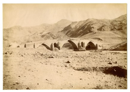 Antoin Sevruguin, The Dokhtar-e pol bridge on the Qezel Oxan river, Late 19th Century