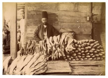 Antoin Sevruguin, A fishmonger, Late 19th Century