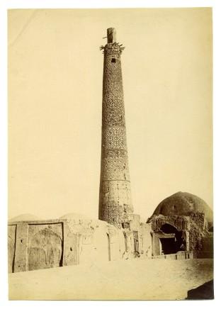 Antoin Sevruguin, Minaret in Bastami, Late 19th Century