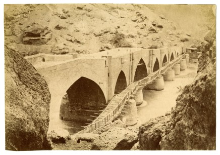 Antoin Sevruguin, A temporary bridge, Menzil, Late 19th Century