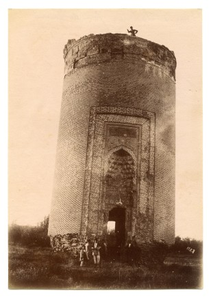 Antoin Sevruguin, The tomb of Emir Arghun Agha's daughter, Salmas, Late 19th Century