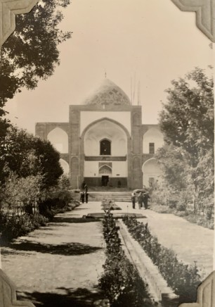 John Drinkwater, Imāmzādeh Maḥroq mosque and tomb of Omar Khayyam in Neyshābūr, 1934