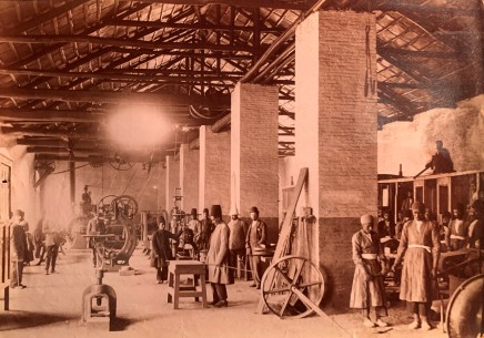 Not known, A workshop for the Tehran to the shrine of Abdul Aziz, Rey railway, Late 19th Century