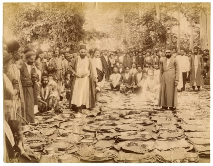 Antoin Sevruguin, Haji Mohammad Taqi Bonakdar, preparing food for strangers at the British embassy, Early 20th Century