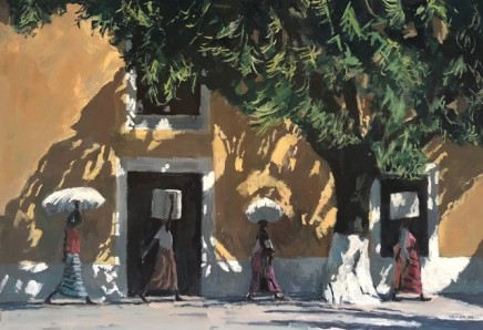 Patrick Gibbs - FOUR WOMEN CARRYING SUGAR CANE, BURMA