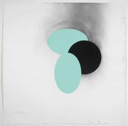 1667, 2014 Charcoal and acrylic 122 x 122 cm