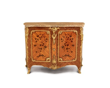 Maison Durand, Double panel cabinet with Floral marquetry and gilt bronze, late 19th century
