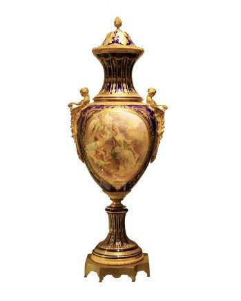 Sèvres style, Porcelain vase, late 19th century