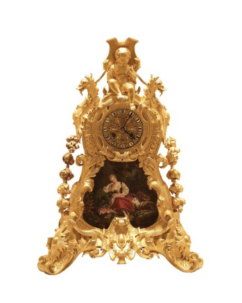 Aubert & Klaftenberger, Mantel clock, France, beginning of 19th century