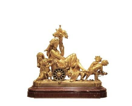 Albert-Ernest Carrier-Belleuse (French, 1824-1887) / Eugene Cornu, Clock representing Omphale