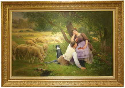 Charles Clair, The couple and a flock of sheep