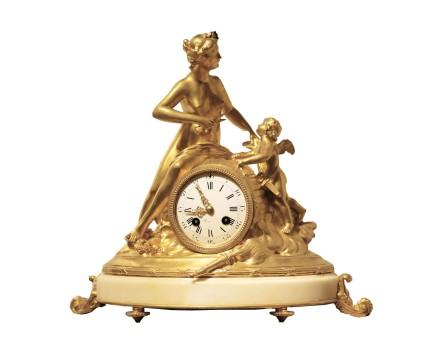 Paul Jean Ducuing / Ferdinand Barbedienne, Mantle Clock, end of 19th century