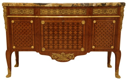 Paul Sormani, Louis XV/XVI style commode, middle of 19th century
