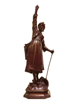 Jean Didier Debut, Bronze figure of a lady, Late 19th century