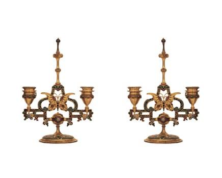 Barbedienne style, Pair of candelabra