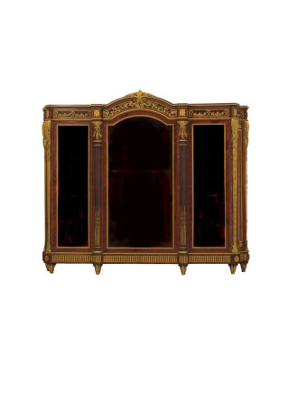 Grohé Frères, Vitrine in gilt-bronze, middle of 19th century