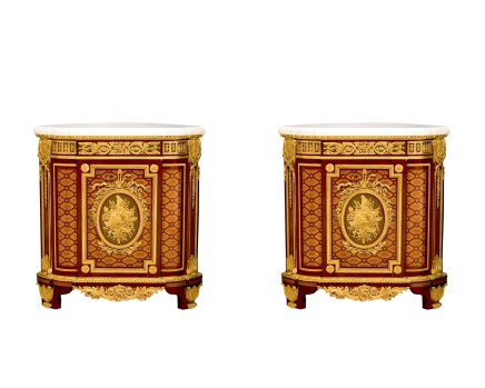 Attributed to Charles Winckelsen, Pair of Encoignures (Corner Cabinets), middle of 19th century
