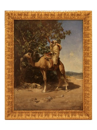 Victor Pierre Huguet, Cameller collecting figs, Late 19th century