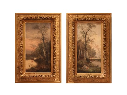 F. Latour, Pair of paintings, end of 19th century