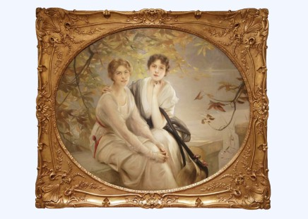 Paul Chabas, Portrait of Two Young Ladies