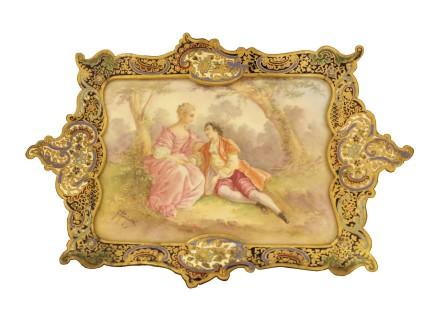 G. Rochette, Porcelain Dresser Tray, end of the 19th century