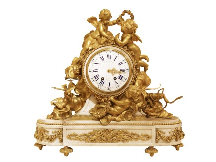 Lemerle-Charpentier & Cie, Mantle Clock, Late 19th century