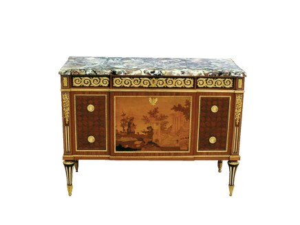 Paul Sormani and Paul-Charles Sormani, Louis XVI/Classical style Commode à Ressaut, end of 19th century