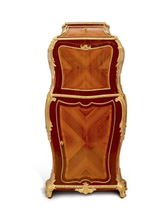 Henry Dasson, Louis XV Style Cabinet, end of 19th century
