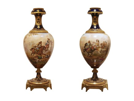 Guillou, Pair of vases, 19th century