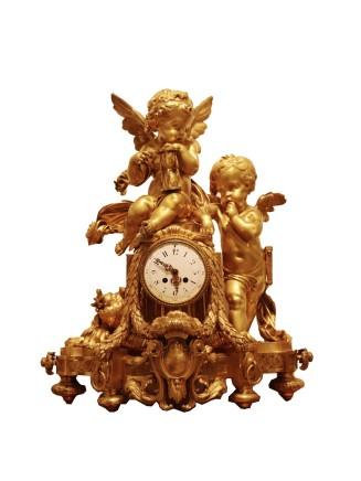 LargeLouis XVI StyleMantel Clock, late 19th century