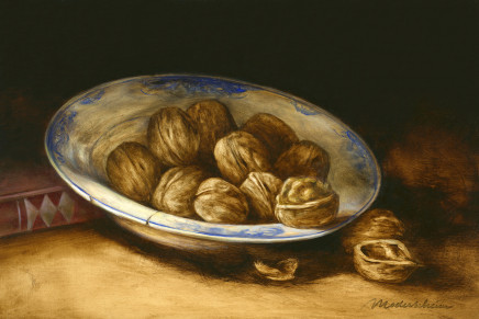 Tanja Moderscheim, Delft plate with walnuts